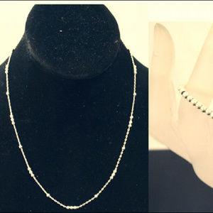 925 STERLING SILVER Ball Bead Bracelet & Necklace
